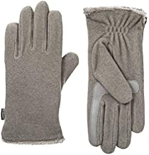 isotoner Womens Stretch Fleece Touchscreen Texting Cold Weather Gloves with Warm, Soft Lining, Smartdri Heather Grey, One Size