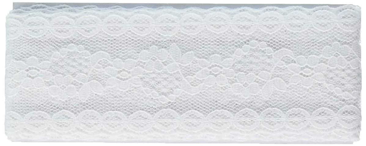 Wright Products 117-306-030 Wrights Flexi Lace Hem Facing, 2-1/2 yd, White