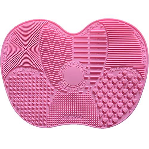 Esterilla limpiadora de silicona para brochas de maquillaje