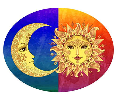 Sun and Moon Metal Plaque Wall Art designed and made by GIFT PLAQUES in USA