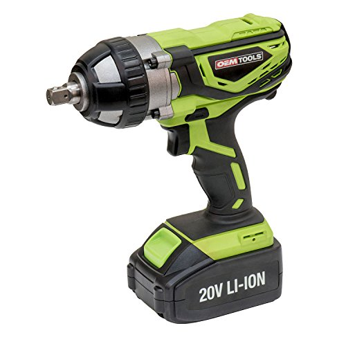 OEMTOOLS 24481 20V Max Impact Wrench with 1/2 Inch Drive Anvil, Lithium-Ion Battery, Rechargeable Impact Gun, Powerful Motor, 260 Ft/Lbs. Tightening Torque
