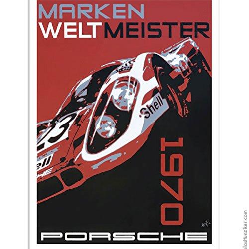 Porsche Nicolas Hunziker 917k Marken Weltmeister 1970 Poster