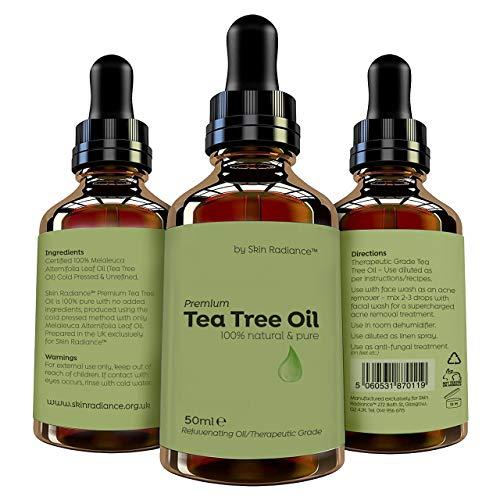 Huile essentielle d'ARBRE À THÉ Tea Tree Essential Oil by Skin Radiance 50ml Mélangez avec votre propre shampooing, nettoyant pour le visage et corps!