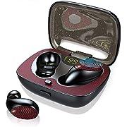 Ecouteur Bluetooth, IPX7 Ecouteurs sans Fil Bluetooth 5.0 TWS Oreillettes Bluetooth Légers Stéréo avec Étui de Charge Intégré pour Microphone/LED, Touch-Control Écouteurs Bluetooth pour Sport/Jogging