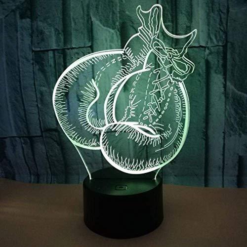 Mood Lights Boxhandschuhe Sport 3D LED Nachtlichter 7 Farben USB Tischlampe Fernbedienung Schlafzimmer Mood Creative Geschenk Acryl Home Decoration Kinder S Geburtstag Weihnachten