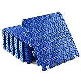 XQKXHZ Esterilla Protección de Suelo 30 x 30 x 2,5 cm   Tapete Protectora para Aparatos De Fitness   Alfombra Antideslizante para Cintas de Correr y Bicicletas   También para Yoga, Azul,36pcs