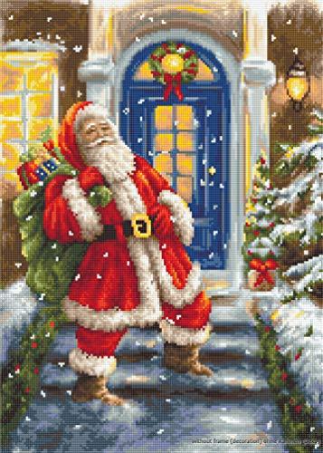 Lucas Visite du Père Noël kit de point de croix