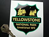 Yellowstone National Park Establecido 1872 Pegatina 5.