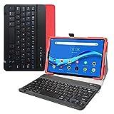 LiuShan Tab M10 Plus Bluetooth Teclado Funda, Detachable Bluetooth Teclado PU Cuero con Soporte Caso para 10.3' Lenovo Tab M10 Plus/Tab M10 Plus 2nd Gen/Smart Tab M10 Plus Tablet,Rojo