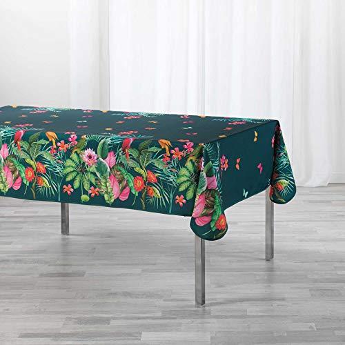 TIENDA EURASIA® Manteles Antimanchas - Diseños Tropicales Originales - Mantel Rectangular 150 x 200 cm - 100% Polyester Lavable (M, 150 x 200 cm)