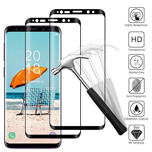 Snnisttek Vetro Protettivo Samsung S8, Pellicola Protettiva di Vetro Temperato HD Trasparente, [HD Alta Trasparenza] [Resistenza ai Graffi]Pellicola Samsung S8 Vetro Temperato [2 Pezzi]