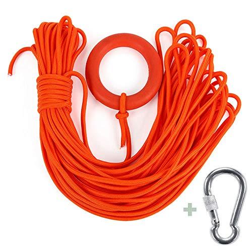 BRY Outdoor Professionelles Wasserschwimmendes Rettungs-Seil, schwimmende Rettungs-Linie mit Armband