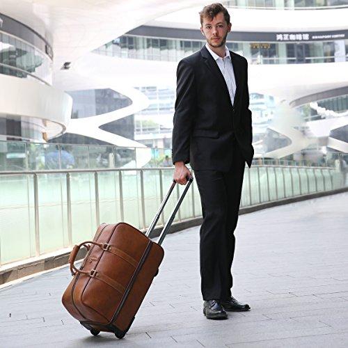 Leathario Reisetasche aus Rindsleder – Trolley - 6