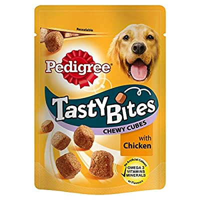 PET-86828 Pedigree Tasty Bites Chewy Cubes with Chicken (130g) 8 Pack