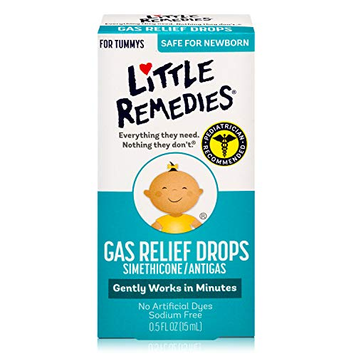 Little Remedies Gas Relief Drops for Tummy's, Natural Berry, 0.5 oz