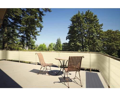 Floracord Balkonverkleidung - Sichtschutz - Balkonumspannung - Farbe: Weizen - 90x500 cm - langlebig - UV-beständig