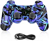 BestFire PS3 Controller Wireless Pro Controller for Playstation 3 Bluetooth Gamepad Remote Joypad Compatible with PS3 and PC Windows 7/8/ 9/10, Support Gyro Motion, Dual Vibration, Multiplayer