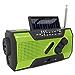 RunningSnail Solar Crank NOAA Weather Radio for Emergency with AM/FM, Flashlight, Reading Lamp and 2000mAh Power Bank (Renewed)
