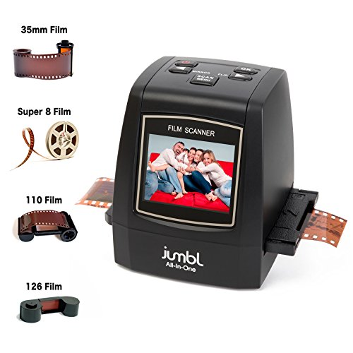 Jumbl 22MP All-in-1 Film & Slide Scanner (Black)