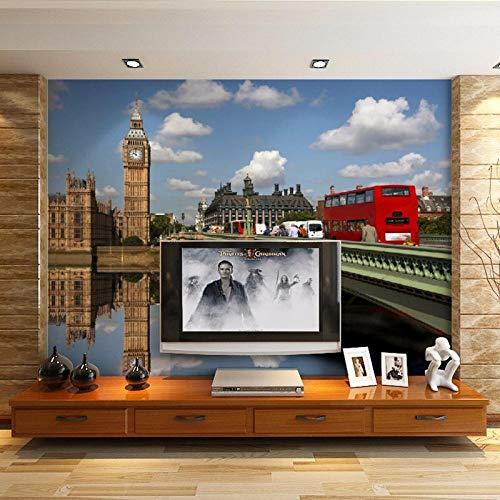 QFAZO Wandmalereien Wandtapete Wohnzimmer im kontinentalen englischen Stil Sofa TV-Hintergrund aus großen, individuell bemalten Tapeten Tapeten, 300 x 210 cm (118,1 x 82,7 Zoll)