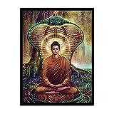 Leinwand Bild,Buddha Und Schlange, Poster Und Drucke