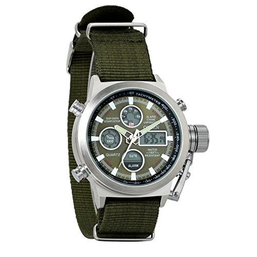 Avaner Grande Reloj de Hombre Militar Deportivo Reloj de Pulsera Verde Negra,...