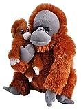 Wild Republic Mom & Baby Orangutan Plush, Stuffed Animal, Plush Toy, Gifts for Kids, Zoo Animals, 12'