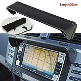 Semine Auto Blendschutz Radio Sonnenschutz GPS Navigation Motorhaube Kappe Maskenteile Schwarz -