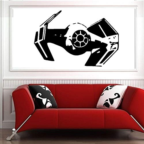 Wandaufkleber Krawatte Kämpfer Haus Dekorative Star Wars Wandtattoo Darth Vader Kinderzimmer Aufkleber Wandbild Raum Design-57x38cm