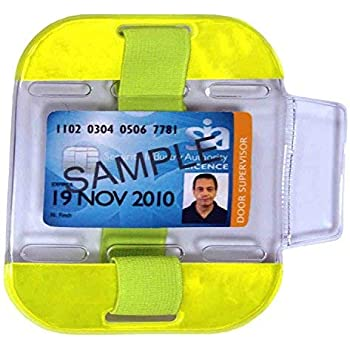epaulette//Belt.#20405 3 way attachment Armband lanyard Security SIA ID Holder