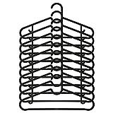 SPRUTTIG, confezione da 10grucce in plastica nera con gancio fisso Ikea
