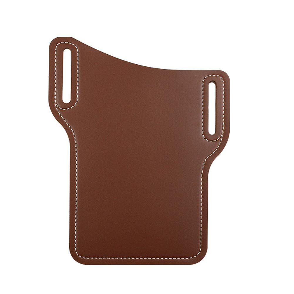1 Pieces PU Leather Portable Sports Running Mobile Phone Storage Belt Bag Cell Phone Holster Universal Case Sheath with Belt Hole Mobile Phone Bag Men Storage (Brown)