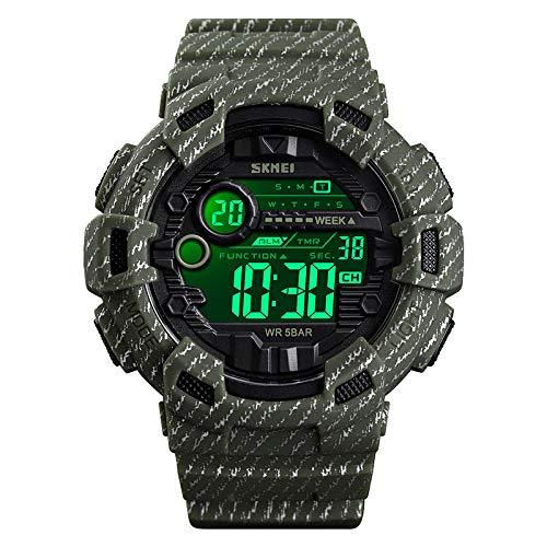 2019 orologio digitale luminoso impermeabile orologio da polso da uomo sportivo da cowboy militare esterno Relogio Masculino reloj hombre 1472