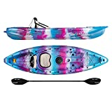 Vibe Kayaks Skipjack 90 9 Foot Angler and Recreational Sit On Top Light Weight Fishing Kayak (Jam Berry) with Paddle and Seat