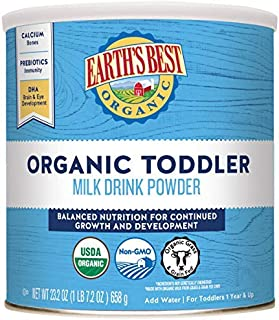 Earth's Best Organic Toddler Milk Drink Powder, Natural Vanilla, 23.2 Oz