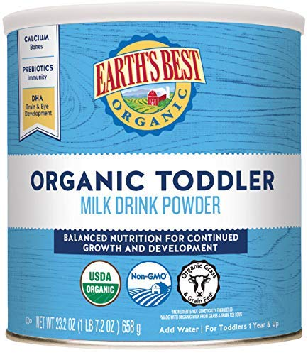 Earth's Best Organic Toddler Milk Drink Powder, Natural...