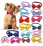 Mousyee Pajarita para Gato, 8 Piezas Pajarita para Perro Pajarita con Puntos de Colores para Mascotas Pajarita para Gatos Pajaritas Ajustables de 20 a 36 cm para Mascotas Pequeñas y Medianas