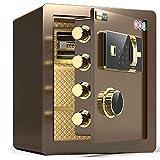 安全-電子パスワードセーフ、指紋認識、合金鋼板、ダブルアラーム、厚いロックボルト、広いスペース、マイクロシーム改ざん防止/B / 40cm