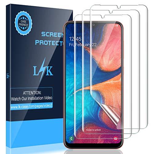 LK [3 Stück Schutzfolie für Samsung Galaxy A20e, Samsung Galaxy A20e Folie, [Fingerabdruck-ID unterstützen][Blasenfreie] Klar HD Weich TPU Displayschutzfolie