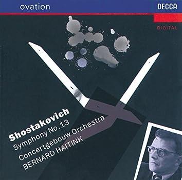 "Shostakovich: Symphony No.13 ""Babi Yar"""