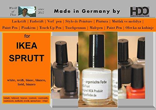 Farbstift Lackstift Touch-Up-Pen for IKEA SPRUTT white