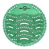 Uri-Fresh Urinal-Sieb und Geruchsentferner (10 Stück mit Handschuhen) 3.0 Urinalmatte von Uri-Fresh (Kiwi)