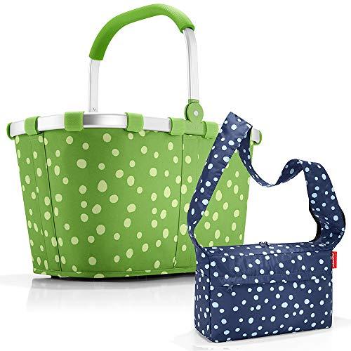 reisenthel carrybag mit Zugabe Einkaufskorb Einkaufstasche Korb (Spots Green)