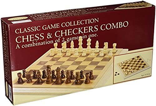Deluxe Staunton Wood Chess And Checkers Set by John N. Hansen