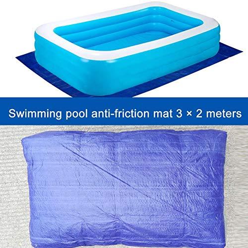 SmallPocket Bodenplane Pool rechteckig Abdeckplane für Pool Poolplanen Schwimmbad Abdeckunge Schwimmbad Matte 2.85x1.85m