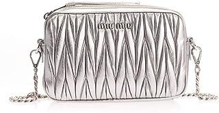 Luxury Fashion | Miu Miu Womens 5BH118VOOMN88F0135 Silver Shoulder Bag | Fall Winter 19