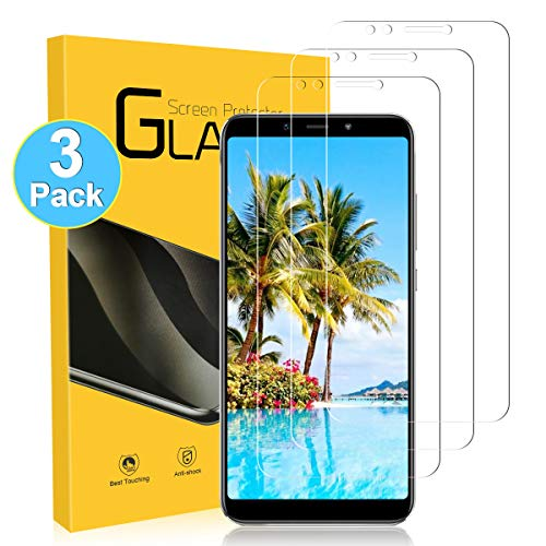YIEASY Protector Pantalla para Xiaomi Mi A2,[3 Piezas HD Cristal Templado] Dureza 9H/Anti-Arañazos/Sin Burbujas/Toque 3D para Xiaomi A2 Vidrio Templado película Protector-Transparente