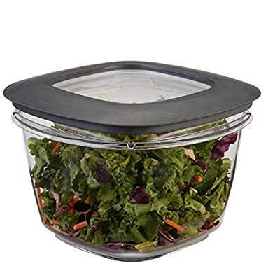 Rubbermaid Premier Easy Find Lid 7-Cup Food Storage Container, Grey