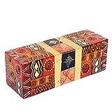 Kapula - Vela de Comercio Justo, Pintada a Mano en Sudáfrica, diseño de Safari Dorado, 7 x 21 x 7 cm, 3 mechas