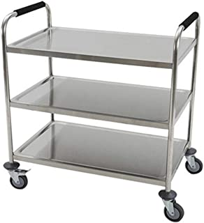 WHJ@ Multi-Function Restaurant Service Car, Three-Layer Stainless Steel Service Car, Mobile Collection Car, Kitchen Tool Cart, Assembly Car, Collection Car, Dining Car